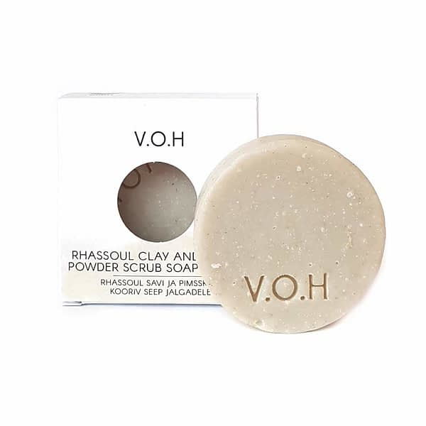 voh scrub soap with rhassoul clay and pumice powder for feet 90g