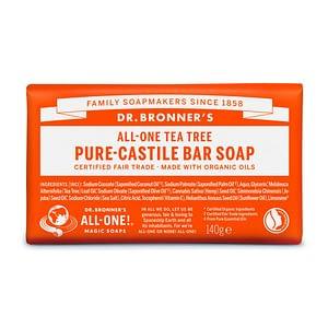 Dr. Bronner's Pure Castile Bar Soap (Tea Tree) 140g