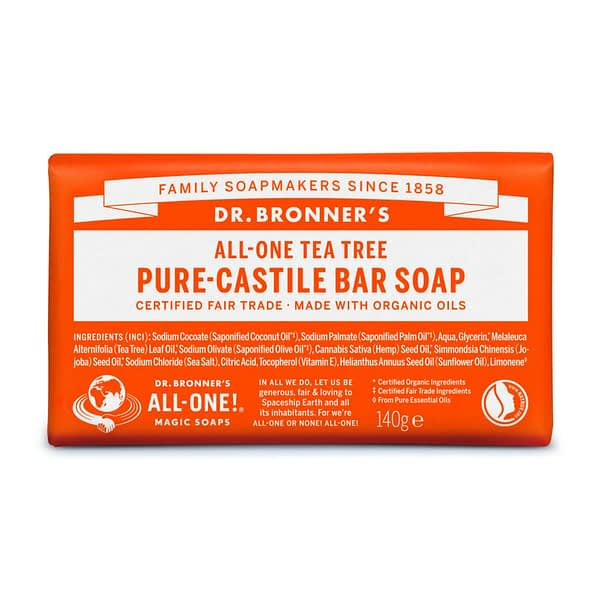 Dr. Bronner's All-One Pure Castile Bar Soap Tea Tree 140g product image