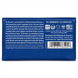 Dr. Bronner's Pure Castile Bar Soap (Peppermint) 140g