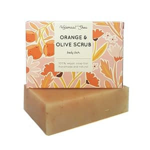 HelemaalShea Orange & Olive Scrub body bar 110g