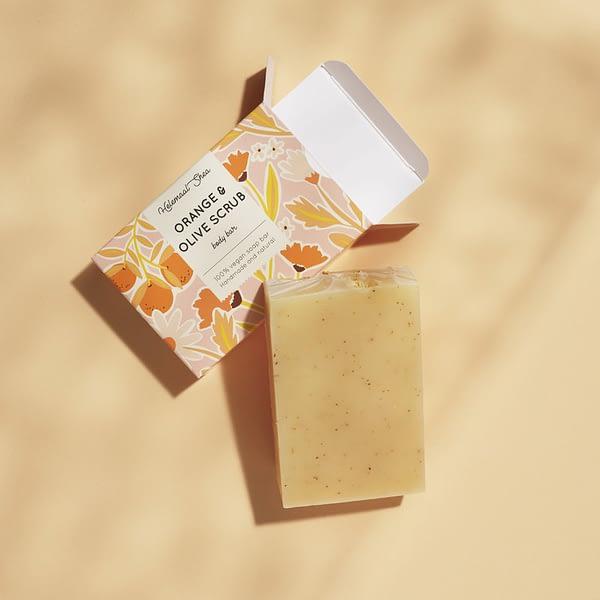 HelemaalShea Orange & Olive Scrub body bar