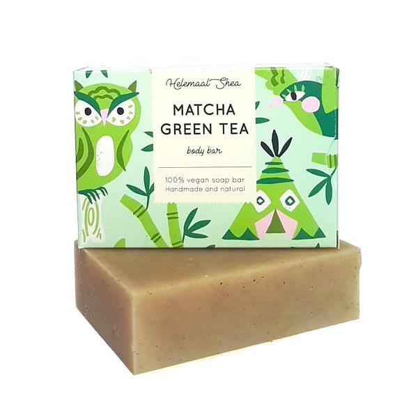 HelemaalShea Matcha Green Tea body bar