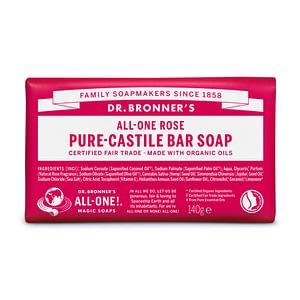 Dr. Bronner's Pure Castile Bar Soap (Rose) 140g