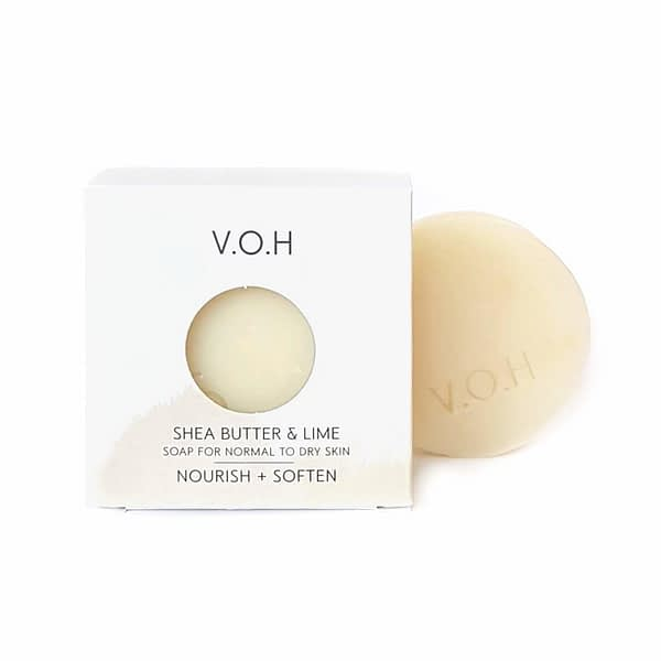 voh creamy shea butter & lime soap 90g