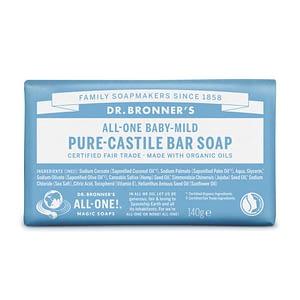 Dr. Bronner's Pure Castile Bar Soap (Baby-Mild) 140g