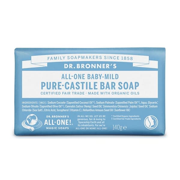 Dr. Bronner's All-One Pure Castile Bar Soap Baby-Mild 140g product image