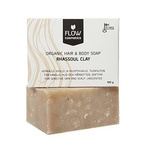 Flow Rhassoul Clay Organic Hair & Body Soap 100g