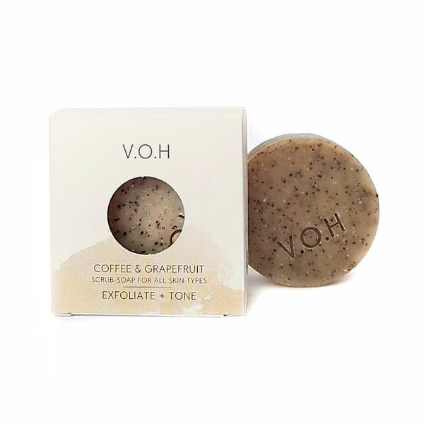 voh coffee & grapefruit scrub soap 90g