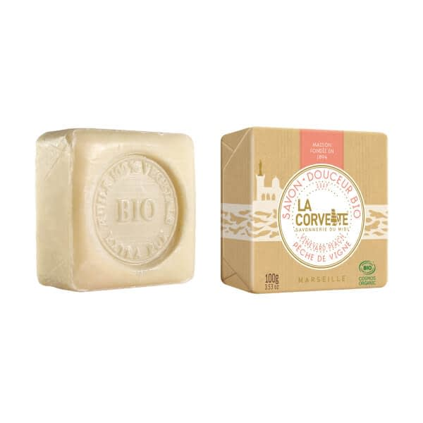 La Corvette organic soap bar Vineyard Peach 100g