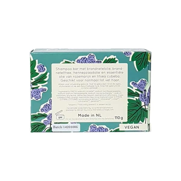 HelemaalShea Nettle & Rosemary shampoo bar product image