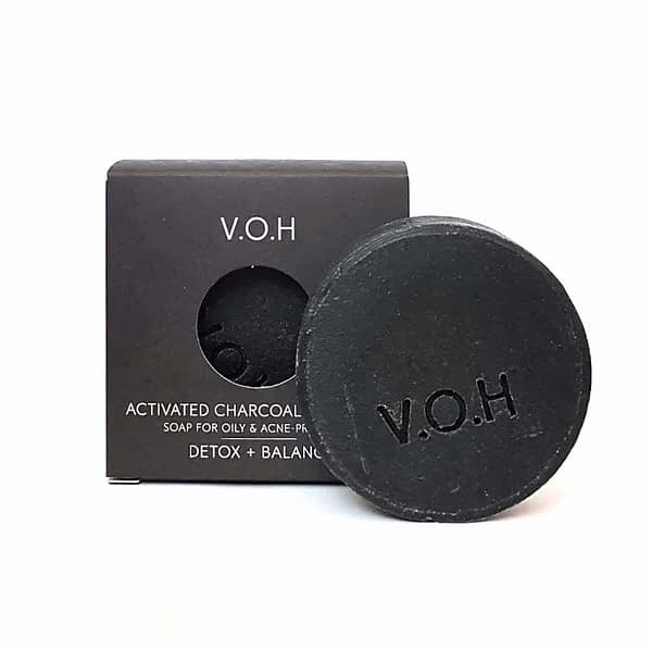 voh activated charcoal & tea tree soap 90g