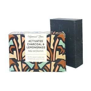 HelemaalShea Activated Charcoal & Lemongrass body and face bar 110g