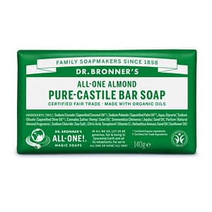 Dr. Bronner's Pure Castile Bar Soap (Almond) 140g
