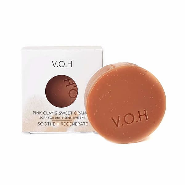voh pink clay & orange soap 90g