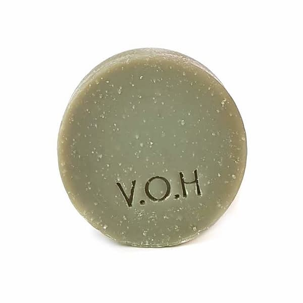 voh green clay & bergamot soap 90g