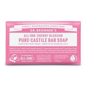Dr. Bronner's Pure Castile Bar Soap (Cherry Blossom) 140g