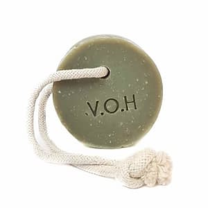 V.O.H Green Clay & Bergamot Soap on a Rope 90g