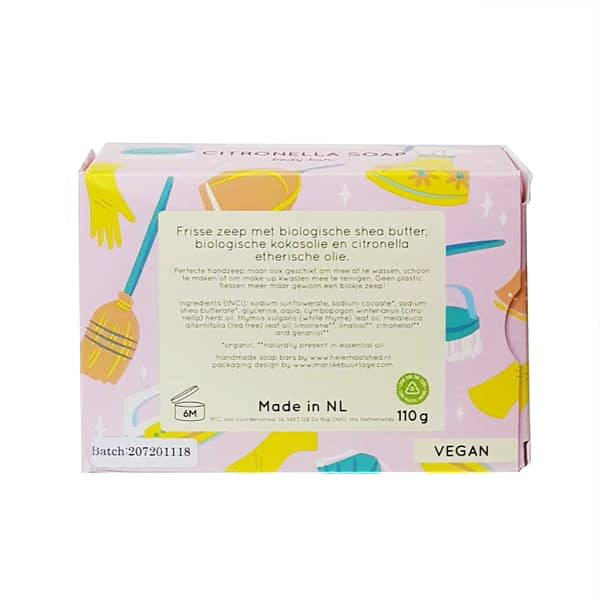 HelemaalShea citronella soap bar product image