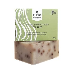 Flow Tea Tree Organic Shampoo Soap 100g