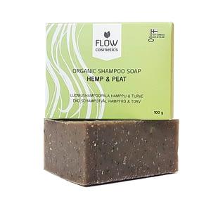 Flow Hemp & Peat Organic Shampoo Soap 100g